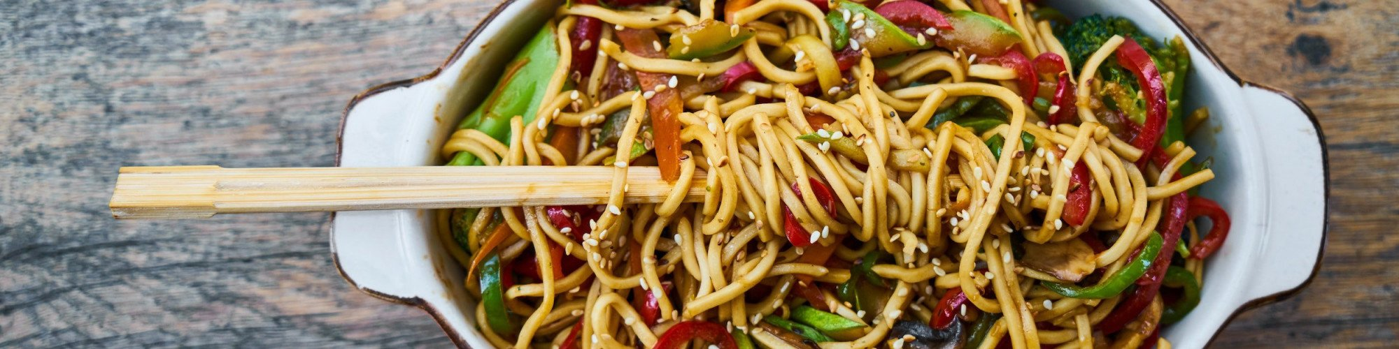 stir fry noodles in bowl 2347311