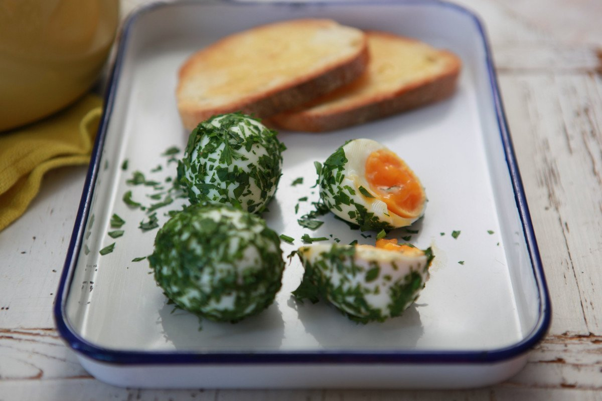 Herbed Boiled Eggs