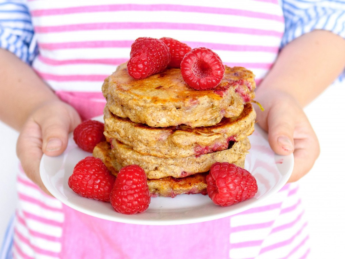 Raspberry and pear pancakes 4 reframe